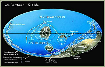 Map Late Cambrian